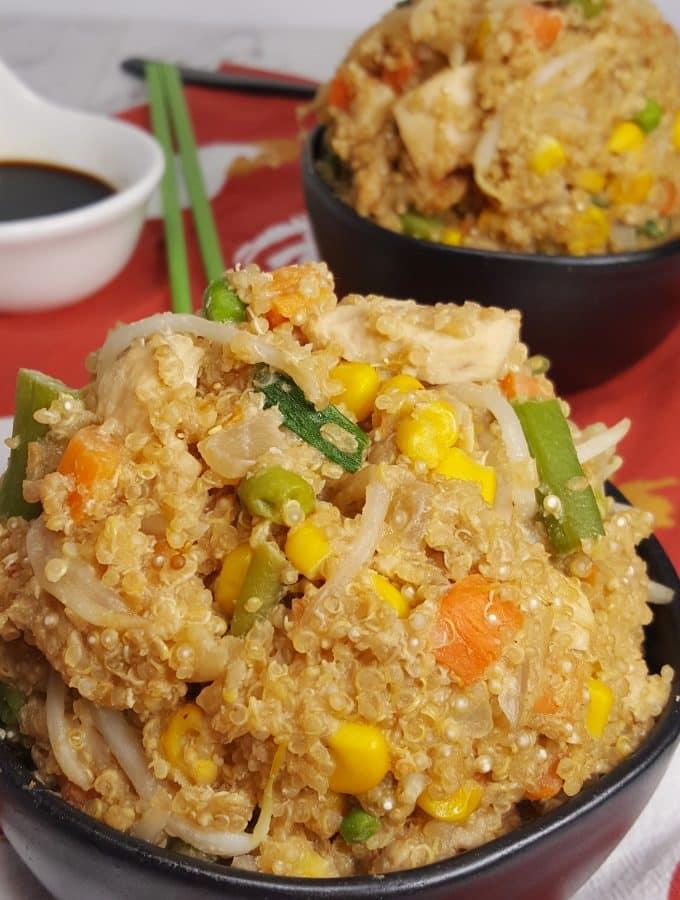 Pressure Cooker Chicken Fried Quinoa