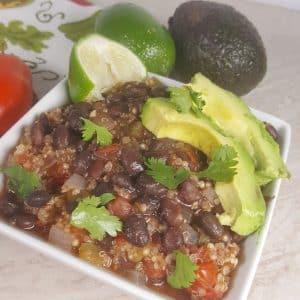 Instant Pot Cuban Black Bean Quinoa Bowls