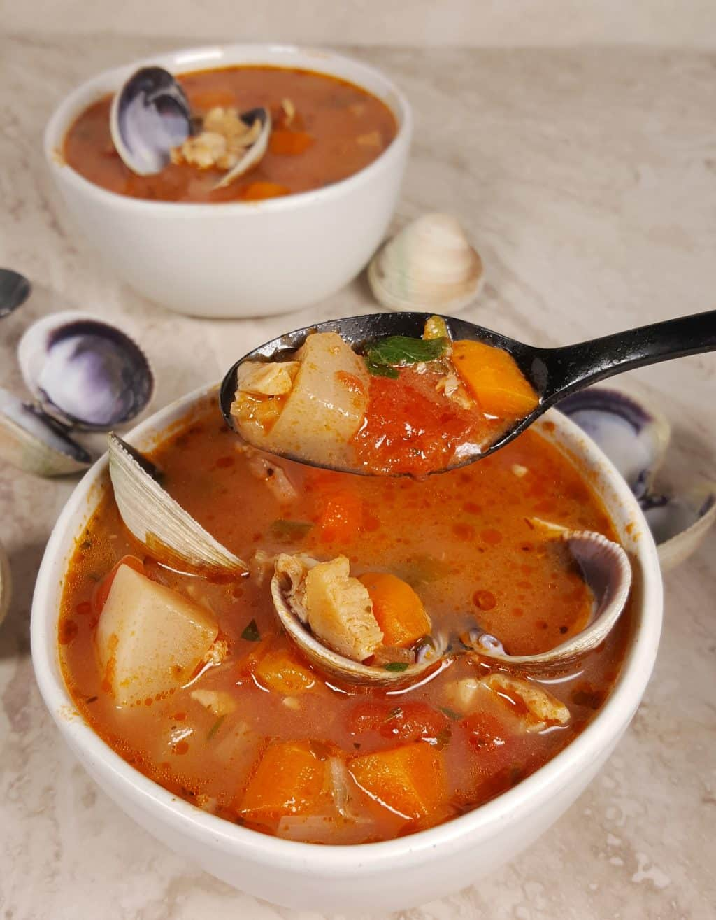 Pressure Cooker Low Carb Manhattan Clam Chowder Soup This Old Gal
