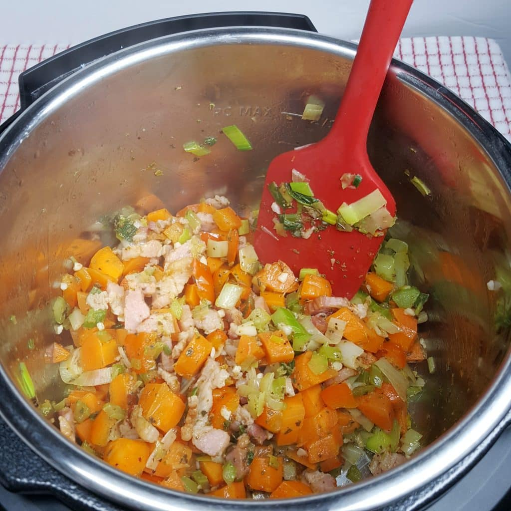 Sauté the Garlic and Spices