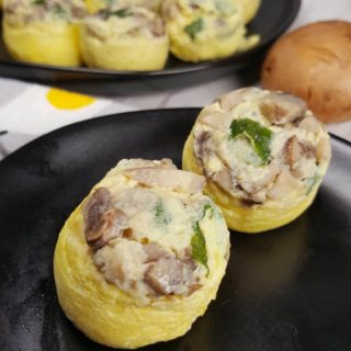 Pressure Cooker Low Carb Mini Mushroom Quiche Egg Bites