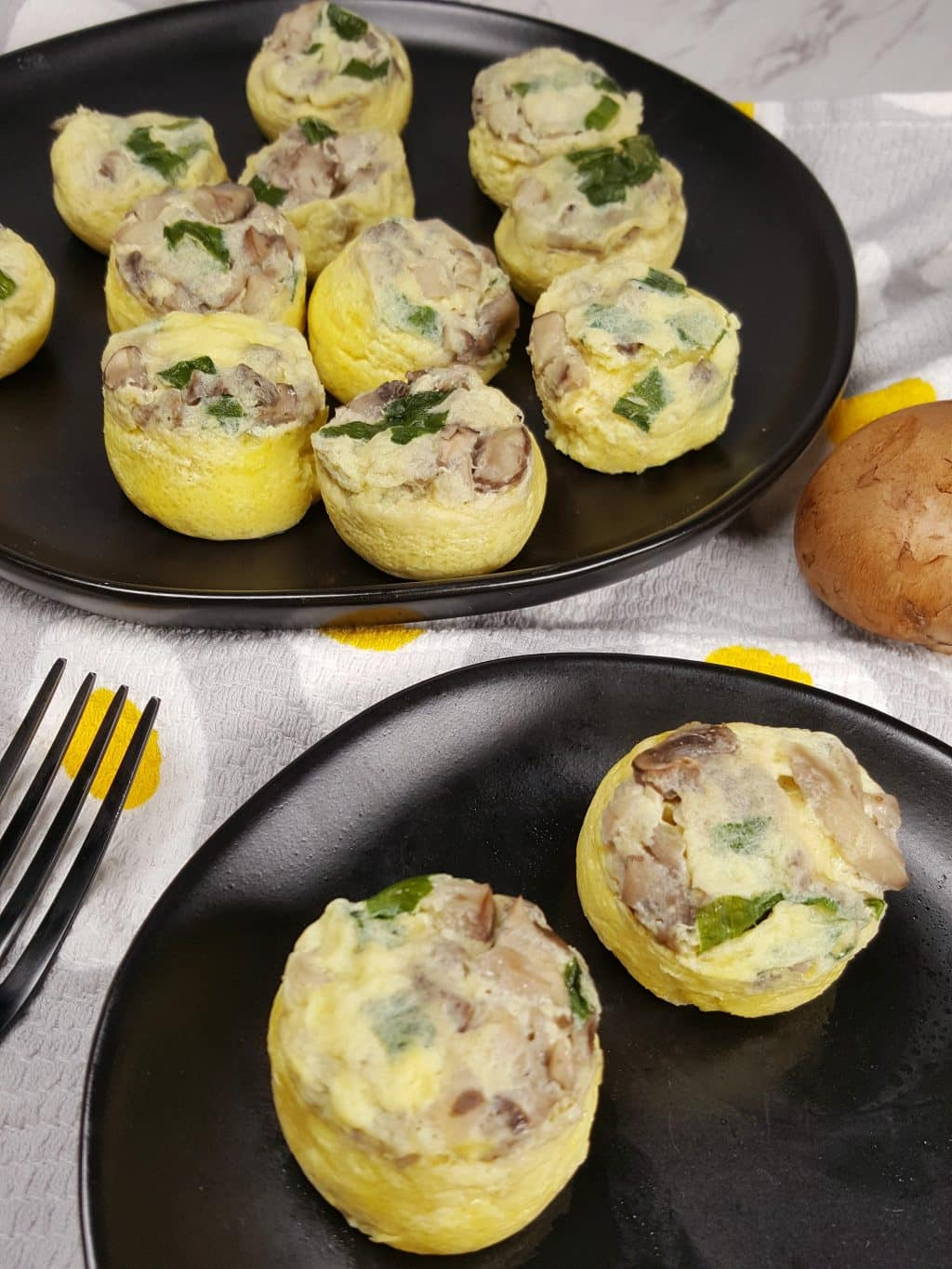 Pressure Cooker Low Carb Mini Mushroom Quiche