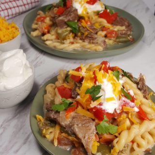 Pressure Cooker Steak Fajitas Pasta
