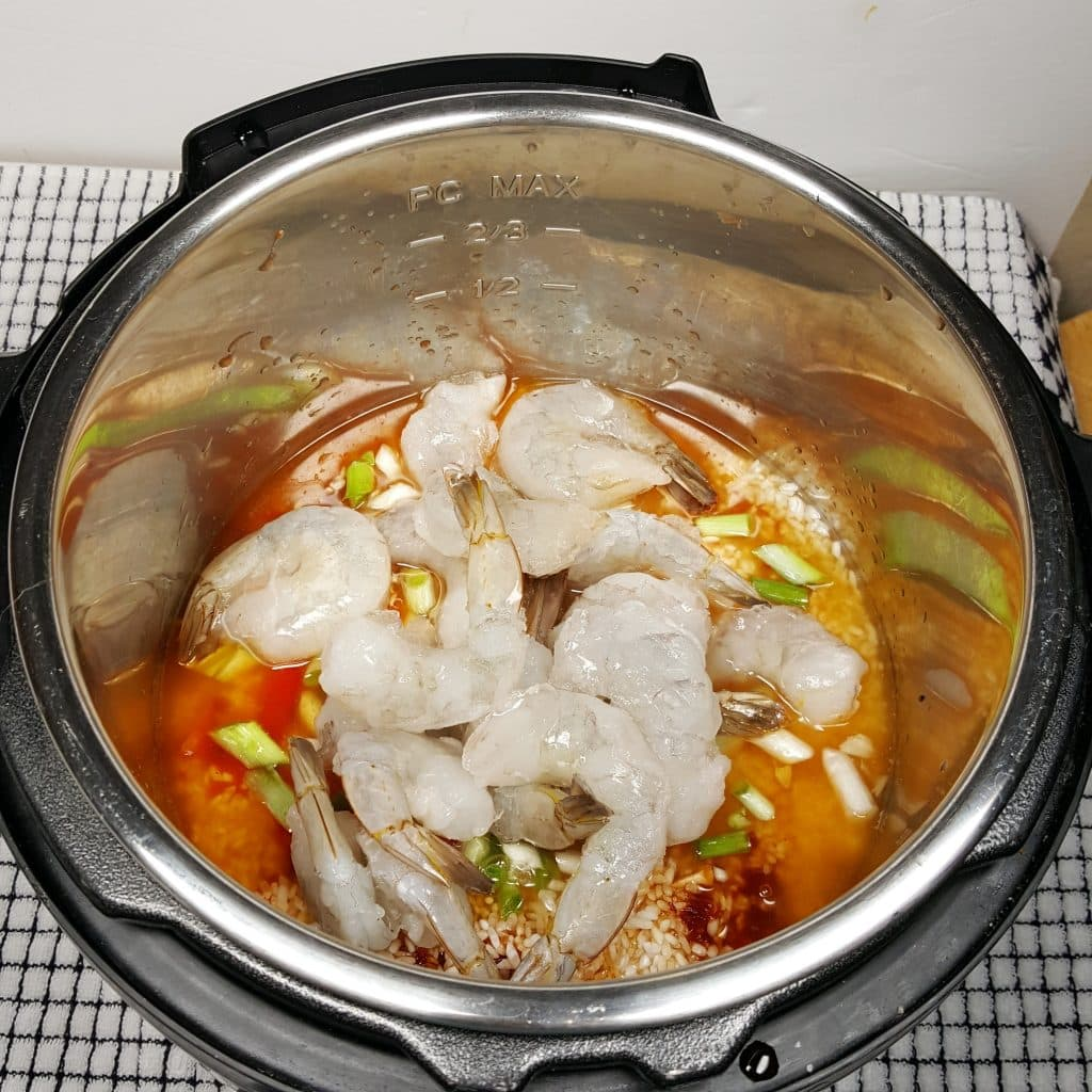 Add Frozen Shrimp on Top