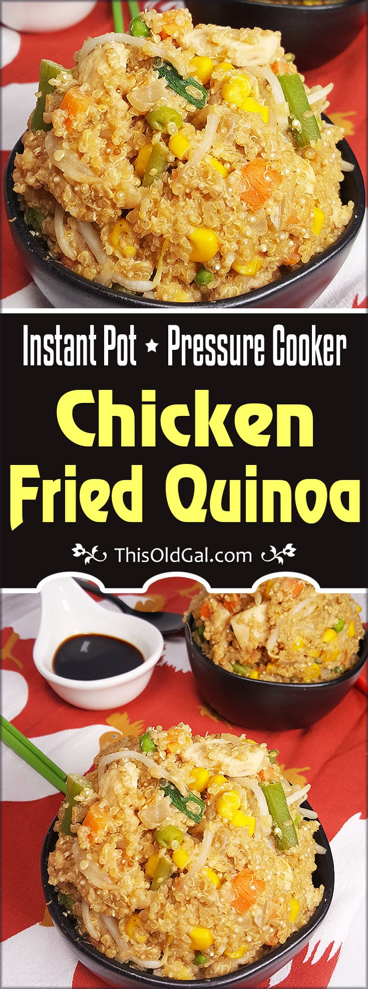 Instant Pot Chicken Fried Quinoa Pressure Cooker