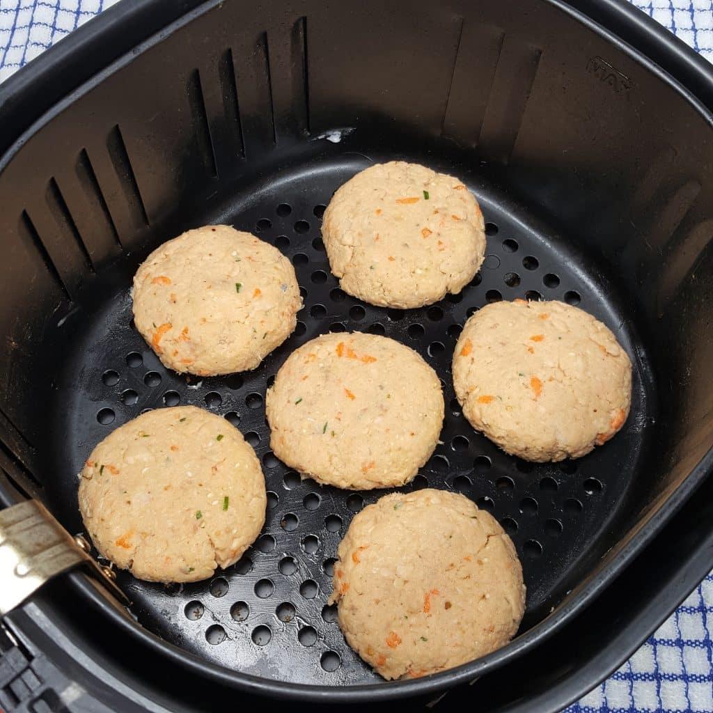 Place 6 Patties in Greased Air Fryer Basket