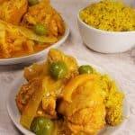 Instant Pot Pressure Cooker Moroccan Lemon Chicken with Olives