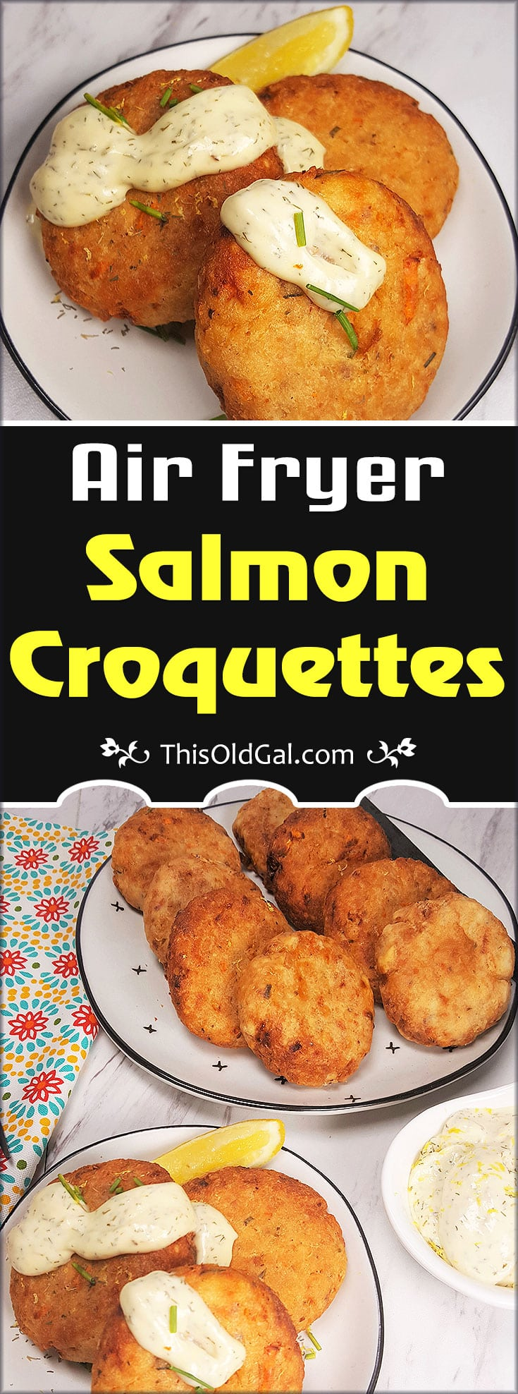 Air Fryer Salmon Croquettes Jewish Mom Style This Old Gal