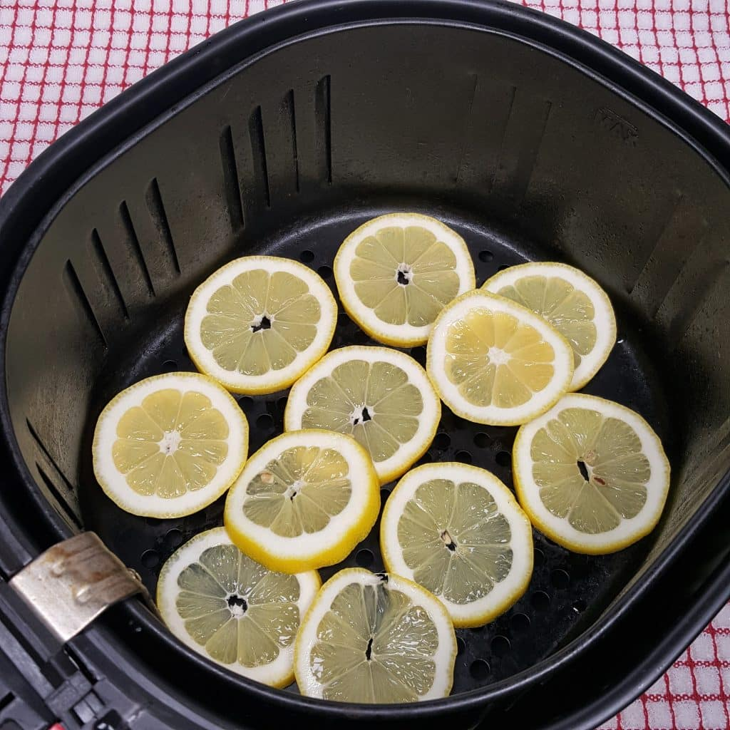 Lemons Adorn the Air Fryer Basket