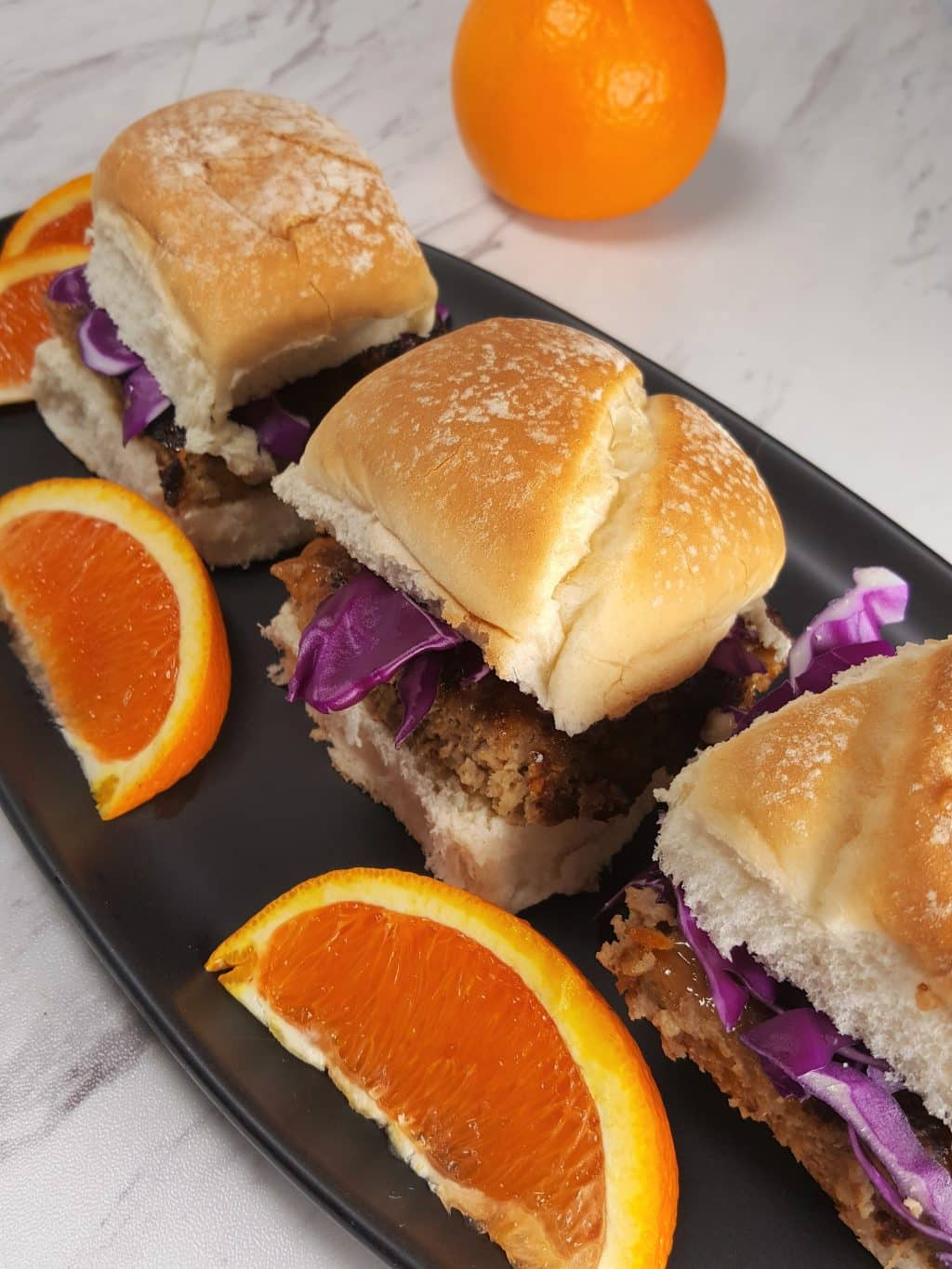 Air Fryer Orange Turkey Burgers Sliders
