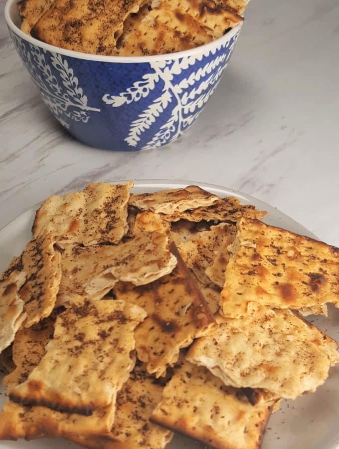 Air Fryer Passover Matzo Tortilla Chips
