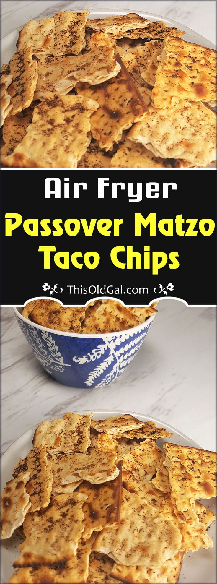 Air Fryer Passover Matzo Taco Chips