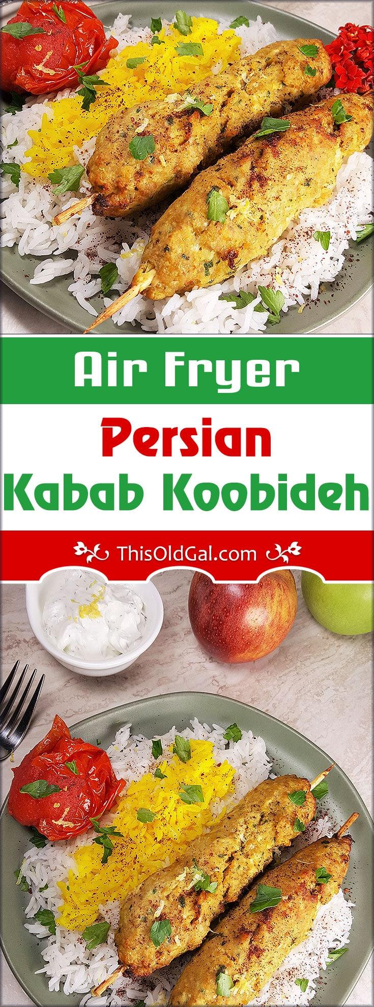 Air Fryer Persian Kabab Koobideh In the Air Fryer