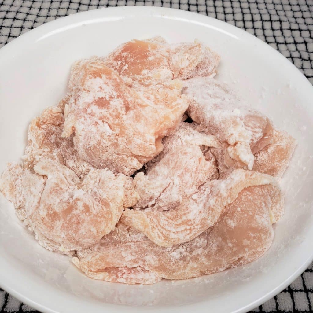 Coat Chicken in Potato Starch and Seasoning