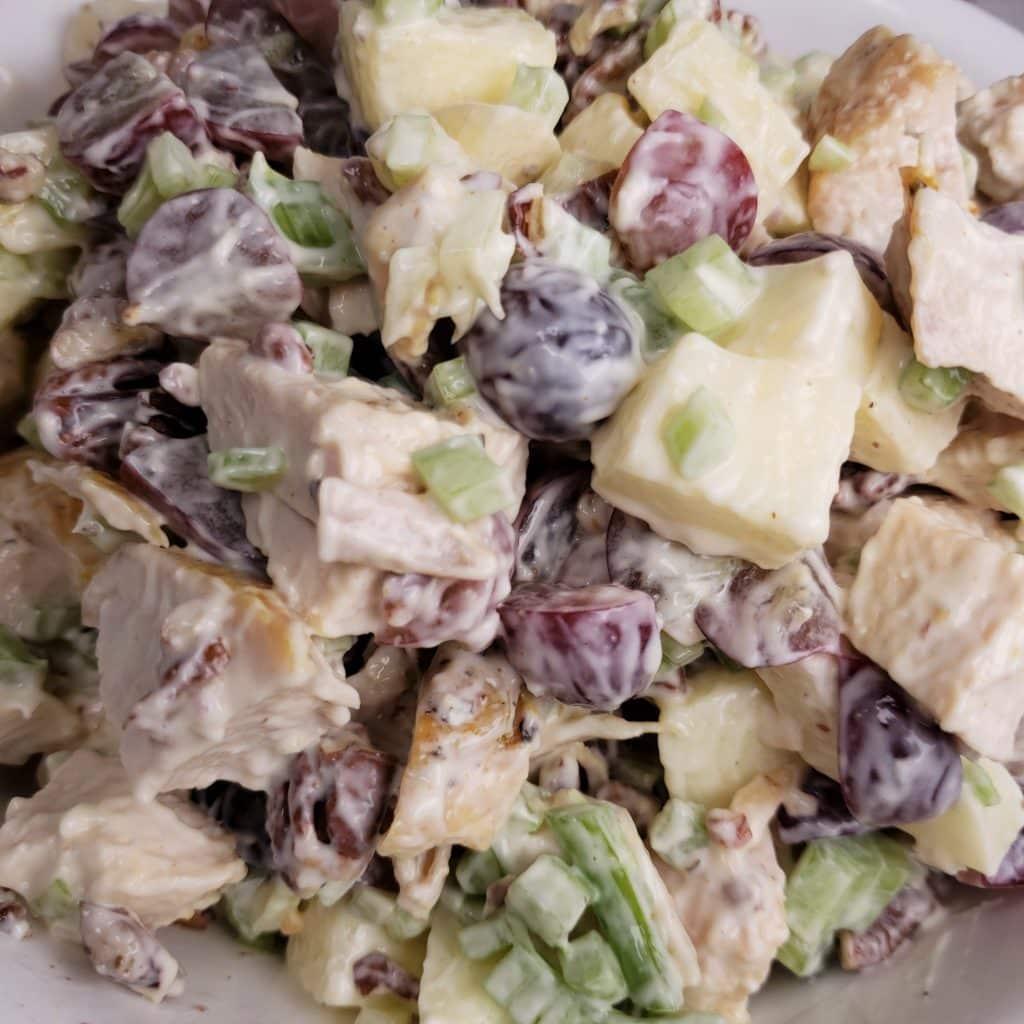 Pecan Chicken Salad in a Bowl
