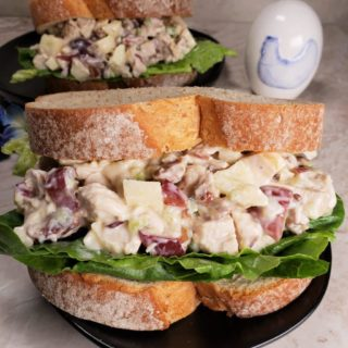 Pecan Chicken Salad Sandwiches {Air Fryer or Instant Pot}