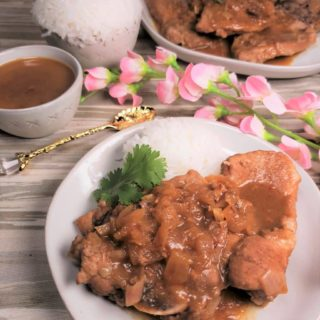 Pressure Cooker Orange Glazed Pork Chops
