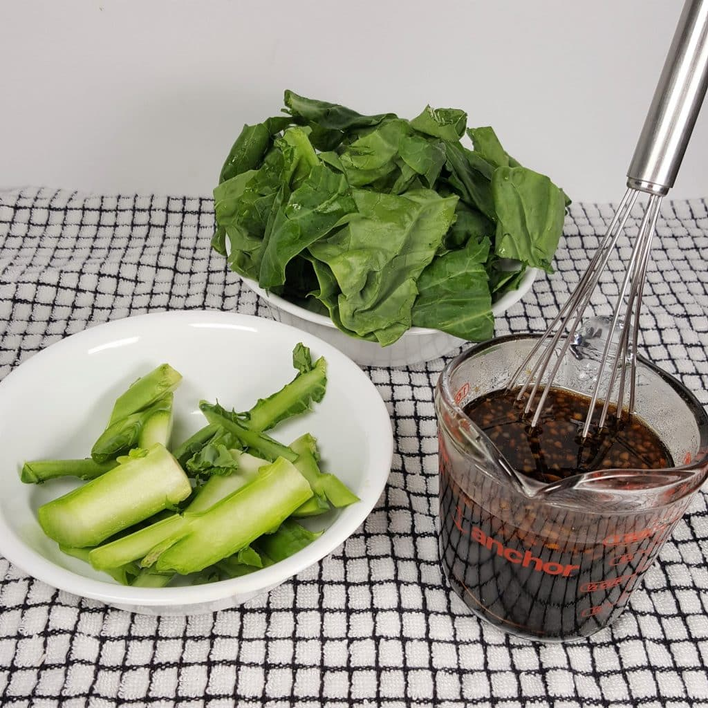 Gai Lan - Separate the Stems and Leaves