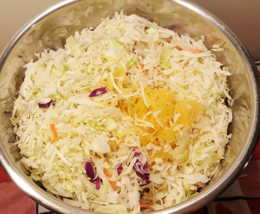 Mix in the Cabbage