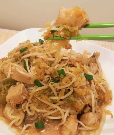 Instant Spaghetti Squash Chicken Chow Mein