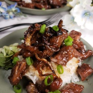 Pressure Cooker Thai Moo Wan Sweet Pork w/Coconut Rice