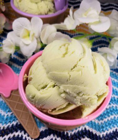 Delicious Homemade Avocado Ice Cream