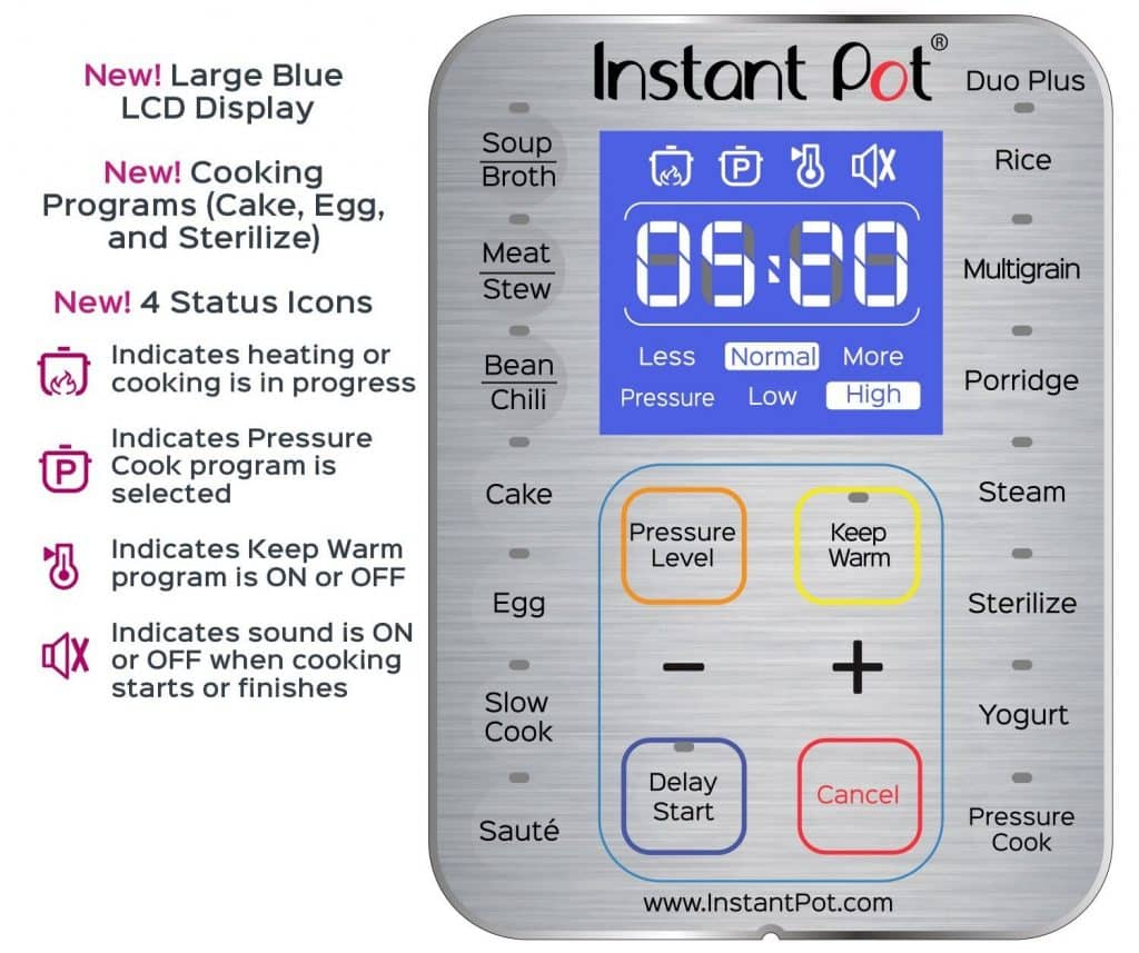 Instant Pot DUO Plus Interface