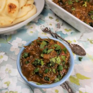 Pressure Cooker Baingan Bharta {Indian Eggplant Stew}