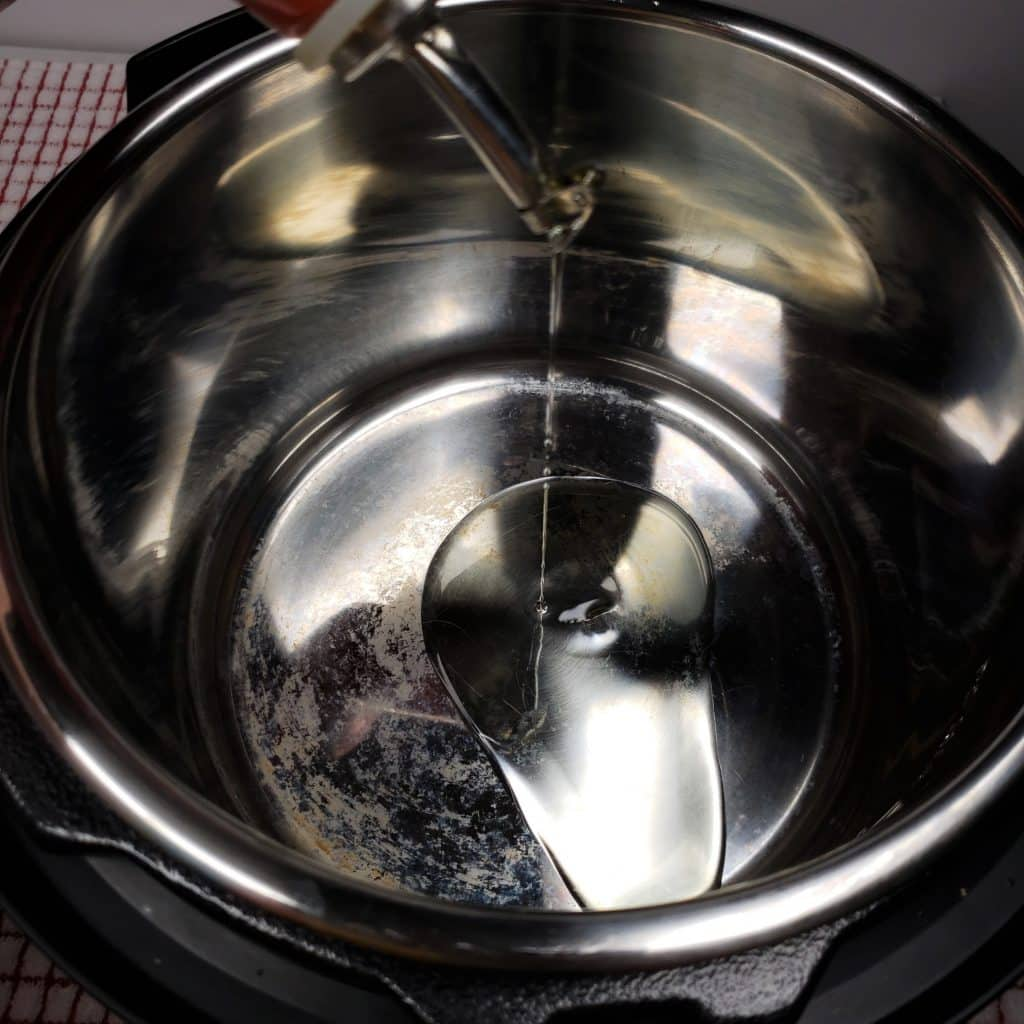 Add Oil to Hot Cooking Pot