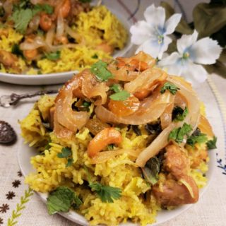 Pressure Cooker Chicken Biryani {Indian Chicken & Rice}
