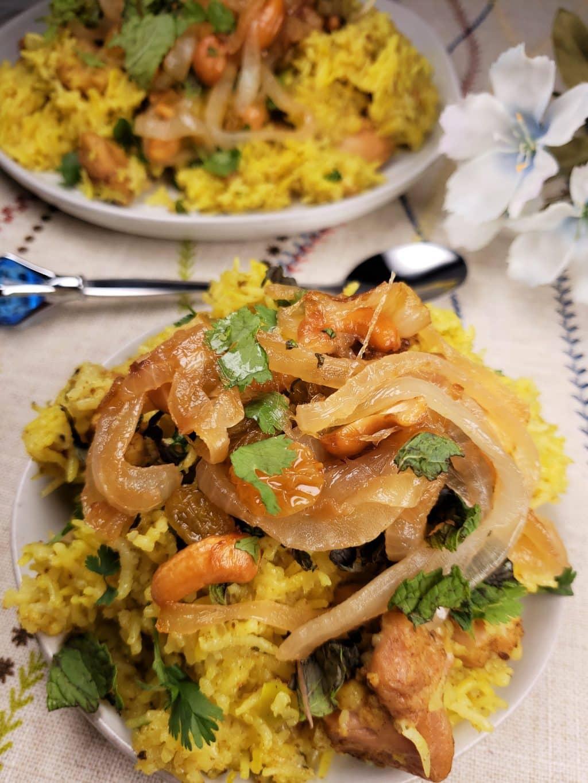 how to make chicken biryani rice