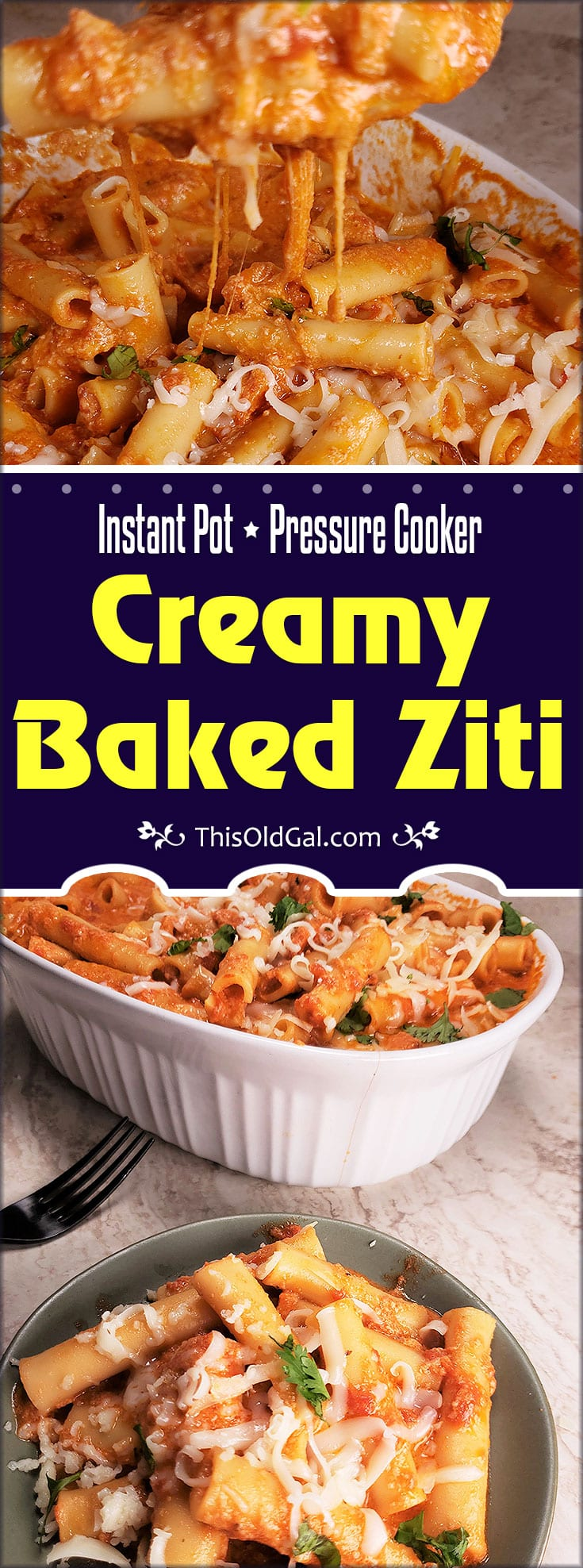 Instant Pot Pressure Cooker Creamy Baked Ziti