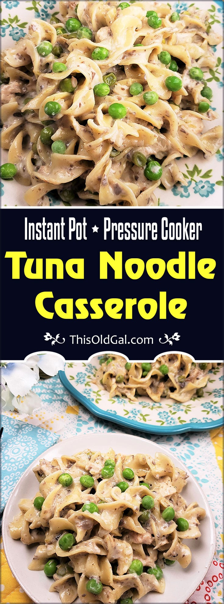 Instant Pot Pressure Cooker Tuna Noodle Casserole