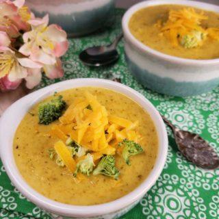 Pressure Cooker Broccoli Cheddar Soup ~Low Carb Keto