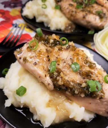 Pressure Cooker Jalapeno Honey Chicken with Mashed Potatoes