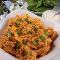 Instant Pot Pressure Cooker Shredded Buffalo Chicken