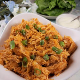 Pressure Cooker Shredded Buffalo Chicken