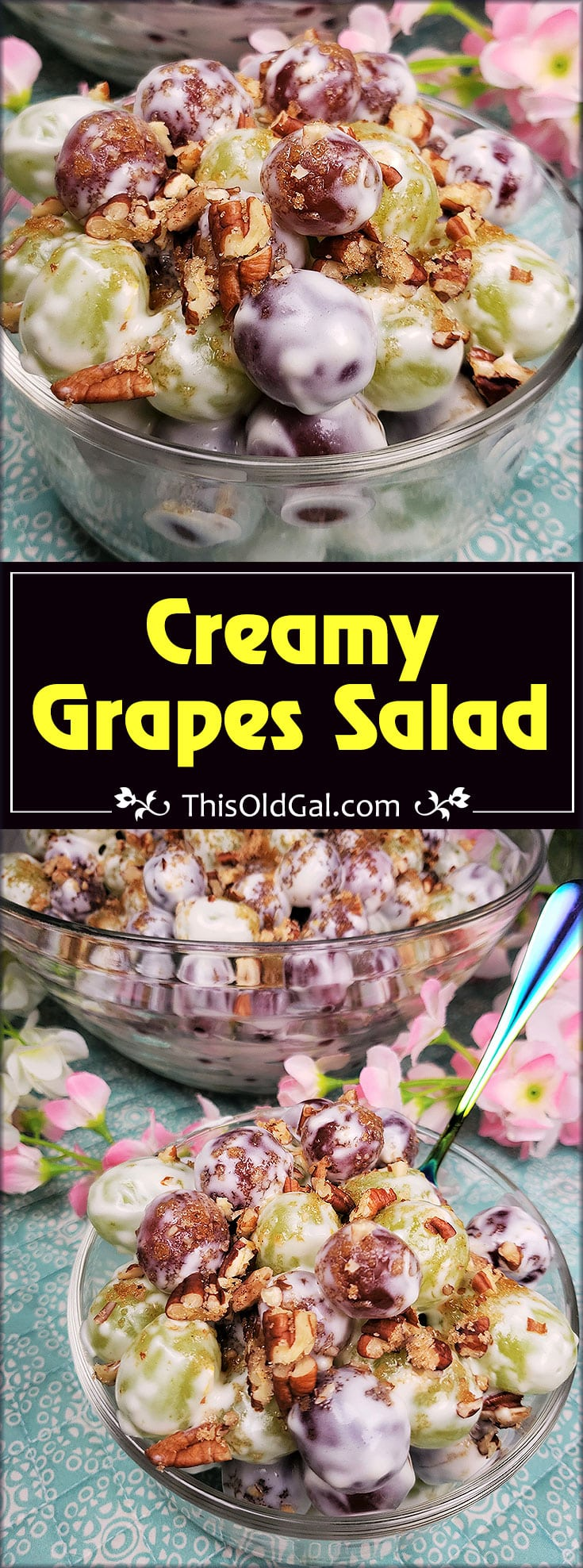 Creamy Grapes Cheesecake Salad