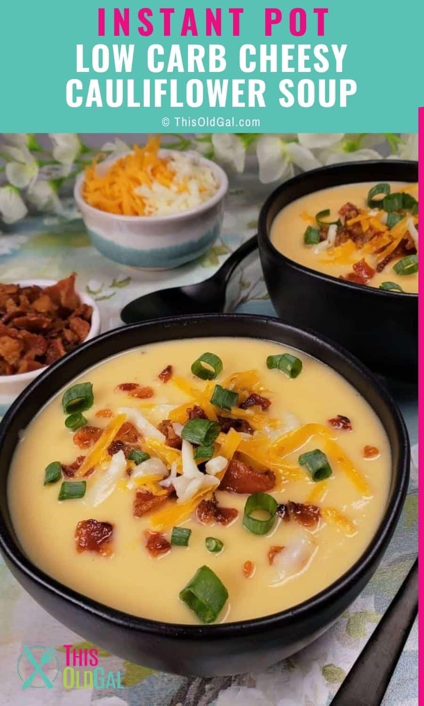 Bowls of cauliflower soup