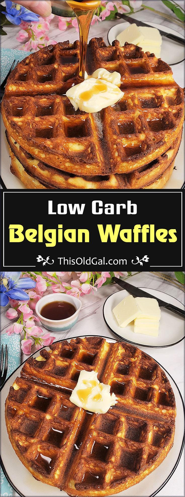Keto Low Carb Coconut Flour Belgian Waffles