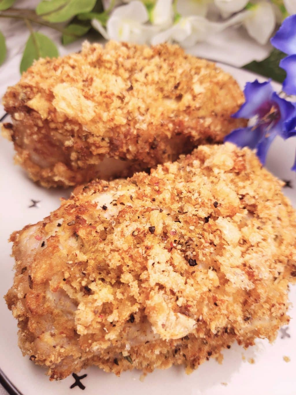 Low Carb Breaded Pork Chops in the Air Fryer