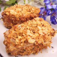 Air Fryer Low Carb Breaded Pork Chops