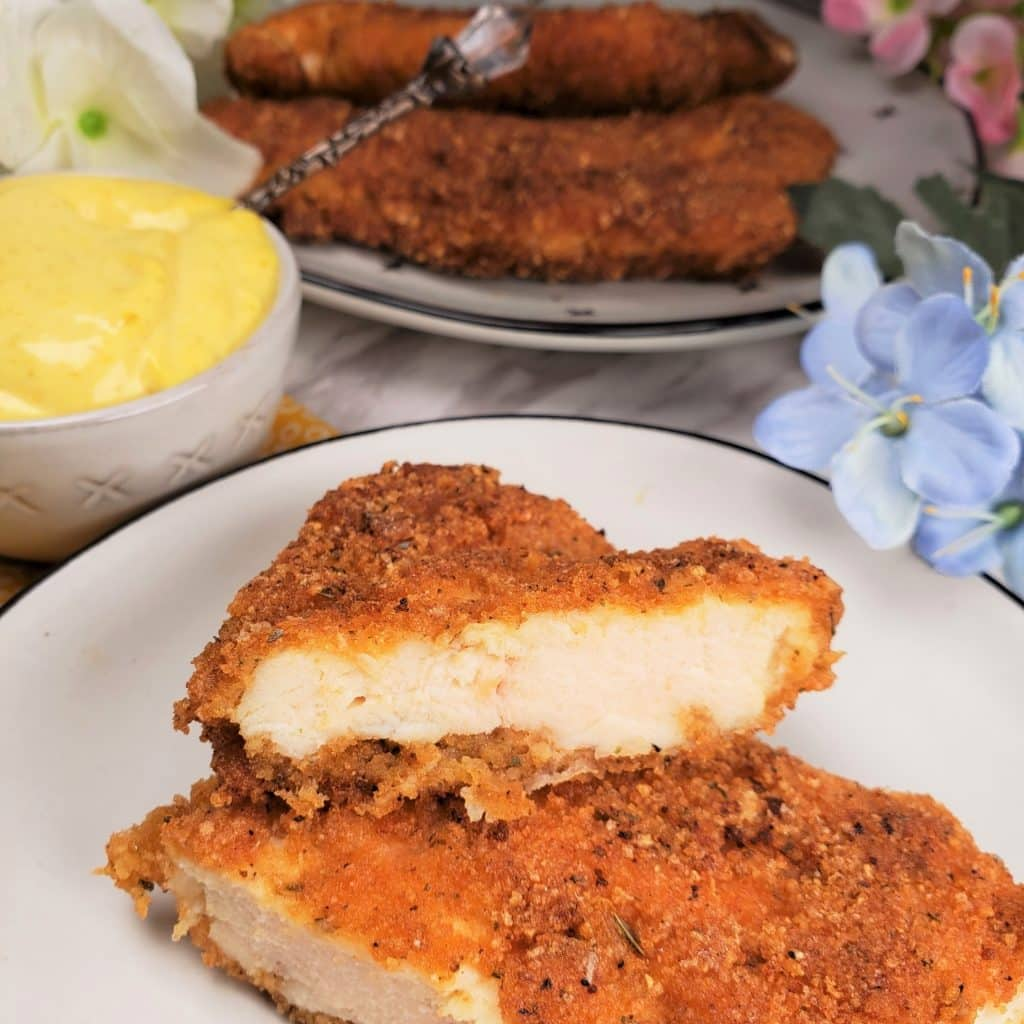 Low Carb Chicken Schnitzel Chicken Cutlets This Old Gal