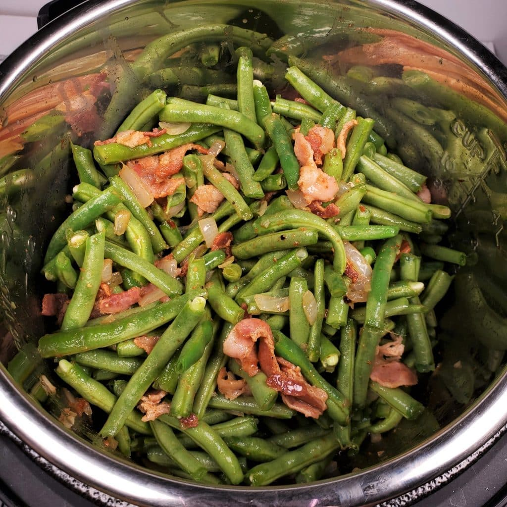 Coat String Beans with Bacon Broth