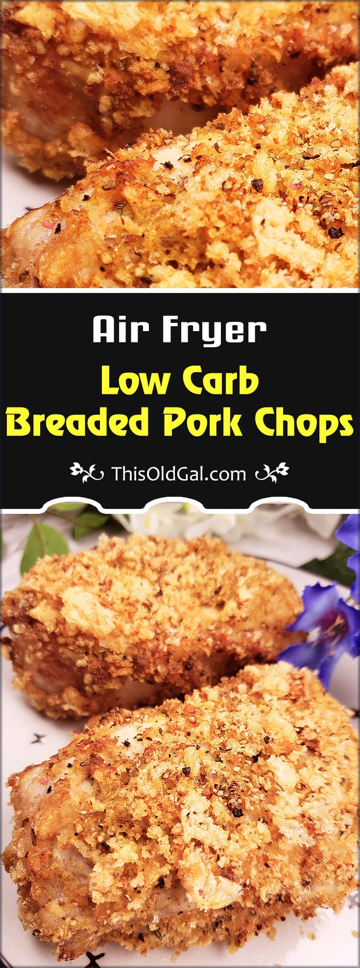 Air Fryer Low Carb and Keto Breaded Pork Chops