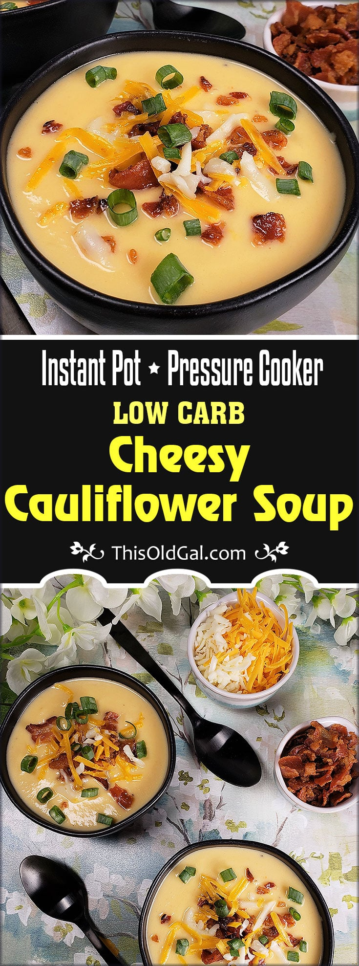 Pressure Cooker Keto Cheese Cauliflower Soup