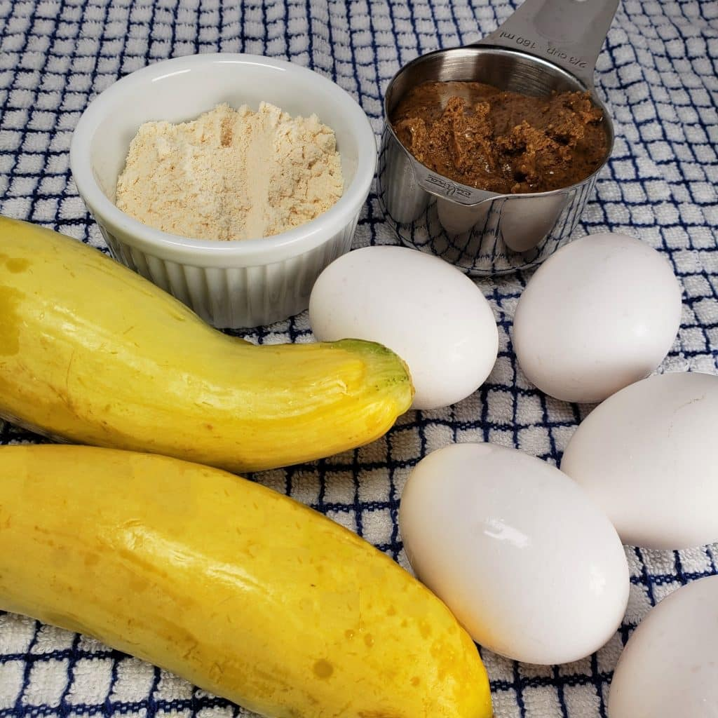 Cast of Ingredients for Keto Low Carb Pancakes
