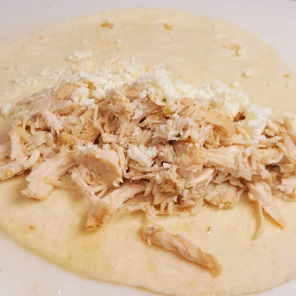 Filling of Chicken and Cotija Cheese