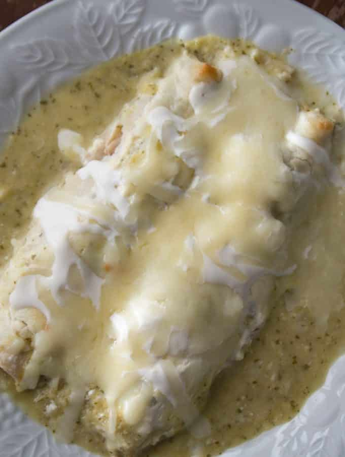Instant Pot Chicken Enchiladas Suizas