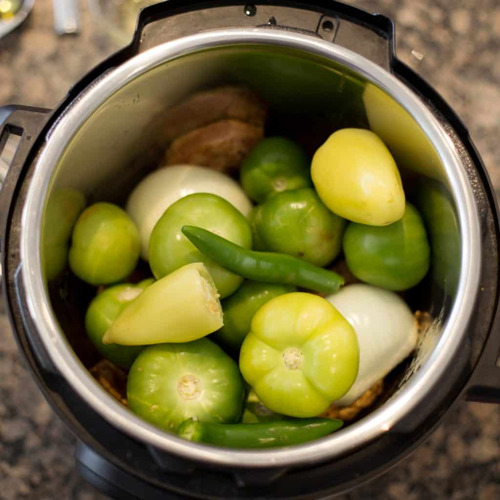 Add Oil, Chicken, Veggies to Pressure Cooker